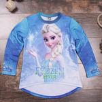 """Свитшот для девочек """"Frozen"""" голубой"""