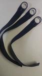 * стропа черная 25 мм с пластиковым кольцом