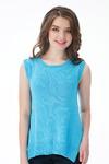 Маечка летняя вяз. цвет голубой