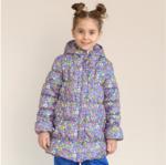 СКИДКА Куртка демисезонная для девочки, модель Д002н, цвет аквамарин