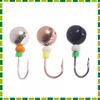 AZOR Набор мормышек 3шт, шар O4 мм (медь, черный, серебро)