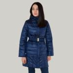 СКИДКА Плащ демисезонный для девочки, модель ПН11, цвет синий cire 152 и 158 см