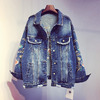 Женская джинсовая курточка с вышивкой