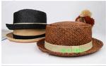Летняя соломенная шляпка