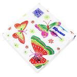 """84200 - Салфетки бумажные 33х33см """"Перышко Prestige"""", 3-х слойные, 20 штук в упаковке, бабочки (Россия)"""