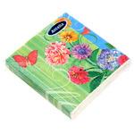 """70168 - Салфетки бумажные 22х22см """"Летние цветы"""" трехслойные, 20 штук в упаковке"""