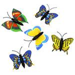 "94088 - Декор ""Бабочка"" на магните, набор 5 штук, 4см, цвета микс, в п/эт упаковке"