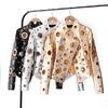 Женская курточка с люверсами