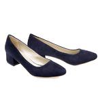 Синие туфли на каблуке 40069 с / в