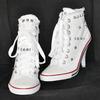 Женские кеды на каблуках