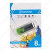 Флеш-накопитель 8Gb Connect M101, USB 2.0, пластик, зелёный