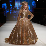 Шикарное платье на девочку, золотое