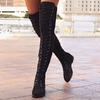 Женские ботфорты на шнурках