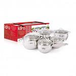 Набор посуды LARA Appie LR-02-88 (2.0л.+3.6л.+4,7л+6,1л+сотейн.2.0л.) 10 пред