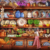 Plates in Kitchen counted cross stitch kits 625x437stitch,121x89cm DIY embroidery kits, Super big cross stitch kits