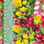 ПОЛУЧЕН Ваф.полотно шир.50см Тюльпаны