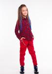 Рубашка клетка красная Р00508: Sofia Shelest