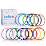 Набор пластика для 3D ручек: UNID ABS-15 (по 10м. 15 цветов в коробке).