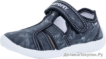 421026-15 черный туфли летние дошкольные текстиль 26-31