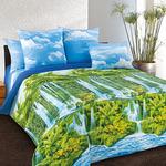 Ткань постельная Сатин Текс-Дизайн(ТЕЙКОВО) шир.220см с рисунком 3D