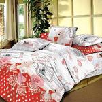 Ткань постельная Экопоплин ТЕЙКОВО шир.220см с рисунком