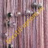 Нитяные шторы радуга с люрексом и бусинами оптом цвет сиреневый с розовым