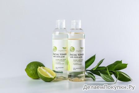 Тоник для лица с АНА-кислотами для жирной и проблемной кожи