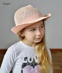 Шляпка-челентанка сетка с пайетками р.51-54 (4-7 лет)