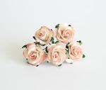Midi розы 2,5 см - Персиковые 2хтоновые 529 / 50 шт в упак