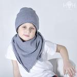 Демисезонная шапка, серый