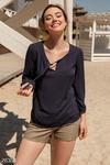 Монохромная летняя блуза