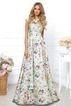 Платье «Шелк Армани» длинное салатовое. Готово!