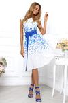 Платье купон бабочки василек