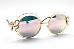 солнцезащитные очки ROBERTO CAVALLI 1024 золото зеркально-розовый