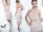 Ультрамодное эффектное платье в бельевом стиле