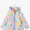 Девочек-флисовая куртка - белый свет на всем напечатанный