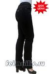Прямые черные джинсы (42-52) размер