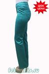 Слегка приуженные мятно-бирюзовые джинсы (46-58) размер