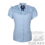 016-1 Блузка для девочки с коротким рукавом, размер 116-140