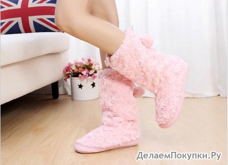 Женская обувь / домашние угги / Угги с плюшевыми помпонами L-106  рр 38