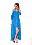 205 Платье /голубой