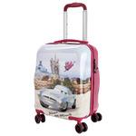 чемодан на 4-х колесах малый (мультицвет) SV017-AC048-16##