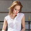 Прозрачная летняя блуза 42-54