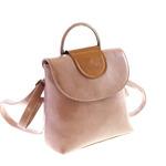 Оригинальная сумочка-рюкзак Humeliya_Bianchi из плотной гладкой эко-кожи цвета розового мрамора