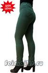 Слегка приуженные темно-зеленые брюки (44-56) размер