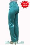 Слегка приуженные мятно-бирюз джинсы (46-58) размер