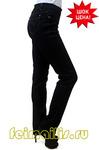 Слегка приуженные черные джинсы (46-58) размер