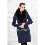 Кашемировое зимнее пальто с меховым воротником Артикул:P-838-P-SI