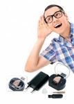 Усилитель звукового сигнала компактный аккумуляторный