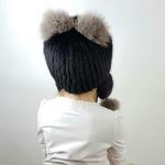 """Детская меховая шапка """"Лисенок"""" мех ондатра, цвет черный с кричневым. Подробнее: https://xn-----7kcgobxpmiohaje2czb8cyc.xn--p1ai/p342036331-detskaya-mehovaya-shapka.html"""